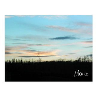 Sunset in Maine Postcard