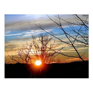 Sunset in Manch Postcard