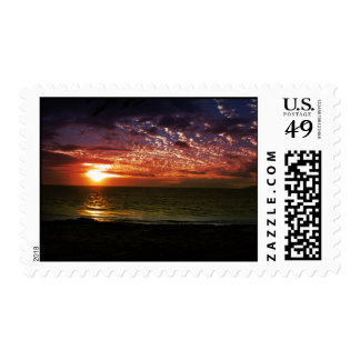 Sunset in Maui Postage Stamp