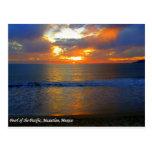 Sunset in Mazatlan Mexico Postcard