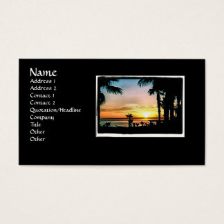 Sunset in Mexico Buisness card