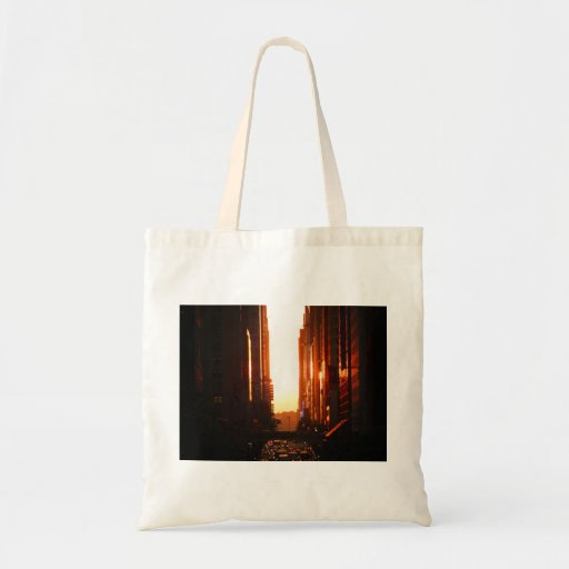 Sunset in New York City Canvas Bag