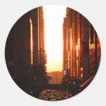 Sunset in New York City Sticker