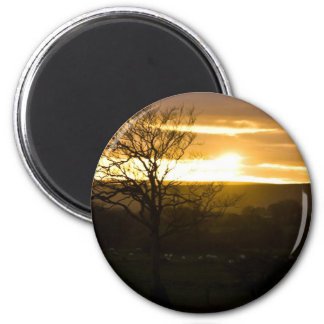 Sunset In North Yorkshire Refrigerator Magnets