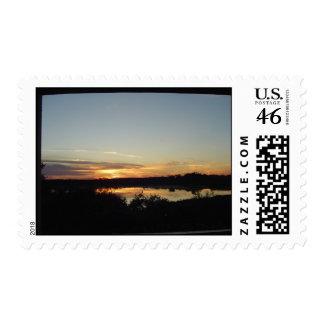 Sunset in Ocoee Florida Lake Lilly Stamp