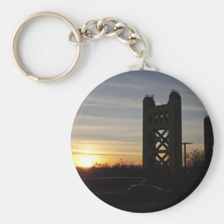 Sunset in Old Sac Keychain