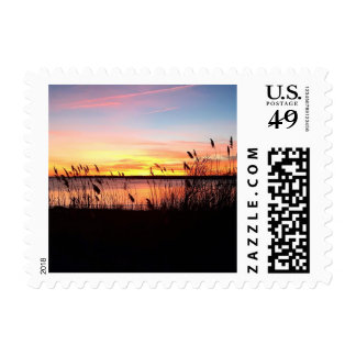 Sunset in Old Saybrook CT - US Postage Stamp