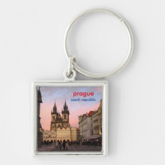 Sunset In Old Town Square - Prague, Czech Republic Keychain