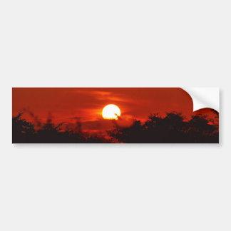 Sunset in paradise bumper sticker