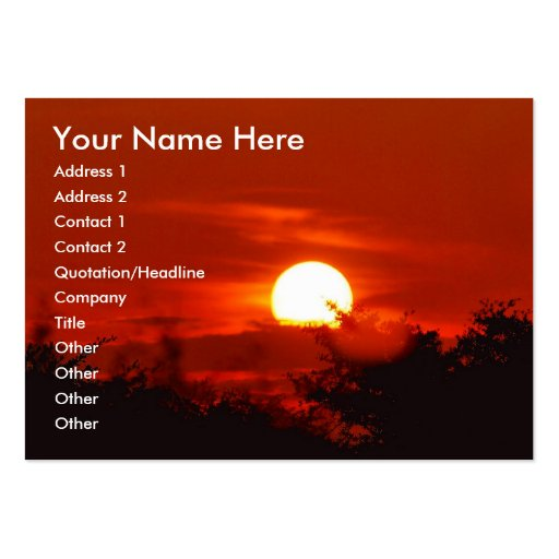 Sunset in paradise business cards