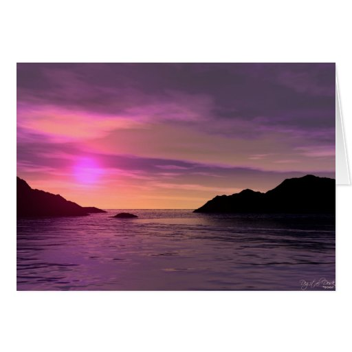 Sunset In Paradise Greeting Cards