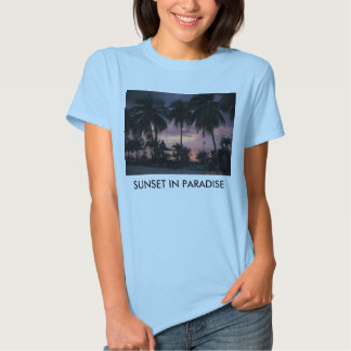 Sunset In Paradise Ladies Baby Doll Shirt
