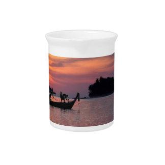Sunset in Phuket beach Pitcher