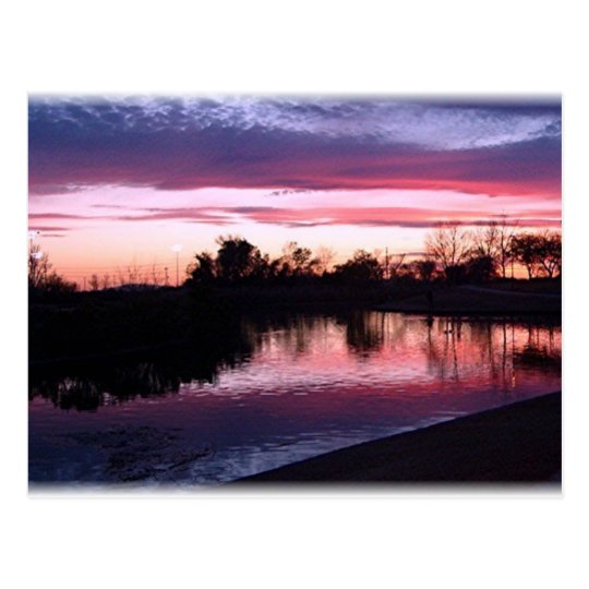 Sunset in Pink and Blue Postcard