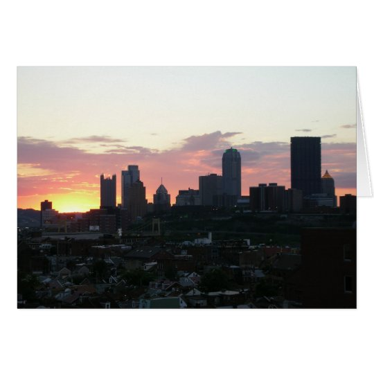 sunset in Pittsburgh Card