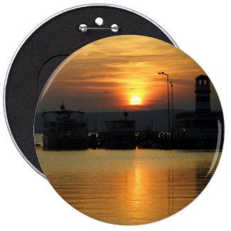 Sunset In Podersdorf Burgenland Button