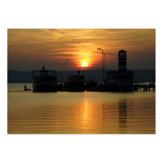 Sunset In Podersdorf Burgenland Large Business Card