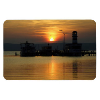 Sunset In Podersdorf Burgenland Rectangular Photo Magnet