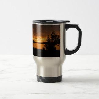 Sunset in Port Loring Ontario Canada Travel Mug