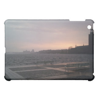 Sunset in Rain Over Stockholm City Hall Cover For The iPad Mini