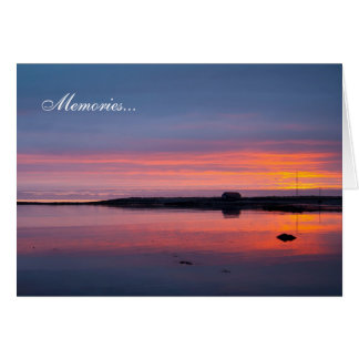 Sunset in Reykjavik Card