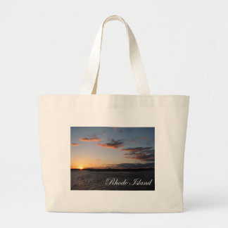 Sunset in Rhode Island Large Tote Bag