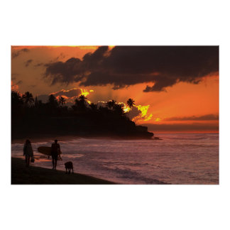 Sunset in Rincon, Puerto Rico Posters