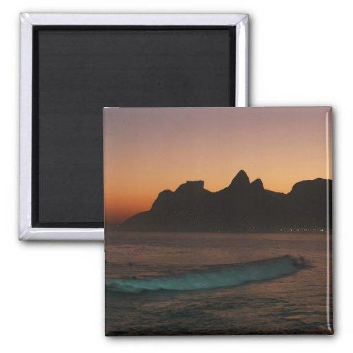"""Sunset in Rio de Janeiro"" fridge magnet"