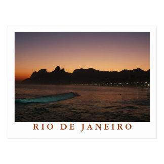 """""""Sunset in Rio de Janeiro"""" postcard"""