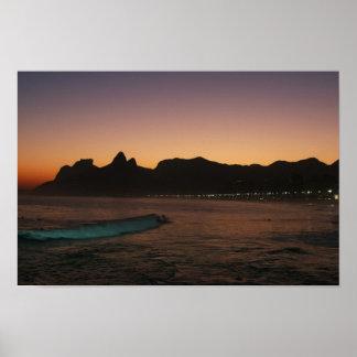 """""""Sunset in Rio de Janeiro"""" poster"""