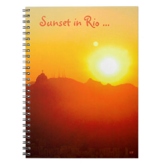 Sunset in Rio ... Photo Notebook (80 Pages B&W)