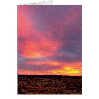sunset in santa fe december 2010 card