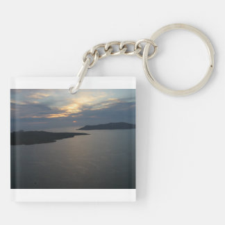 Sunset in Santorini keychain
