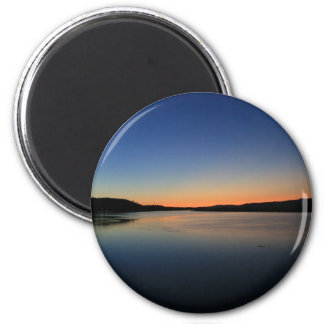 Sunset in South Bend 2 Inch Round Magnet