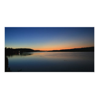 Sunset in South Bend Customized Photo Card