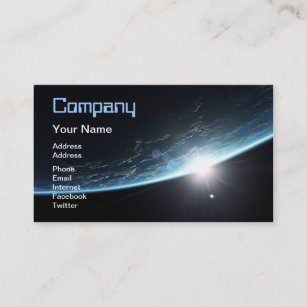 Space business cards templates zazzle sunset in space business card colourmoves