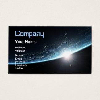 Sunset in space business card