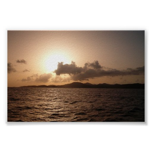 Sunset in St. Thomas Poster