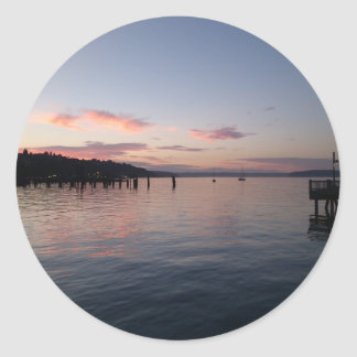 Sunset in Tacoma Classic Round Sticker