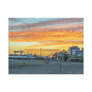 Sunset in Tenerife canvas print