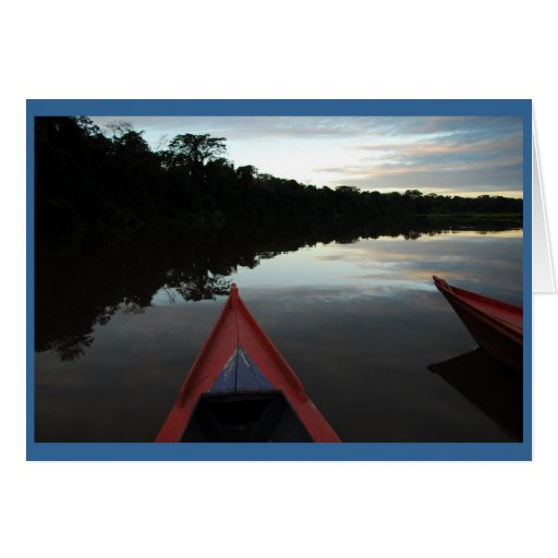 """""""Sunset in the Amazon"""" Greeting Card"""