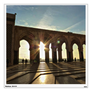 Sunset in the archway wall decal