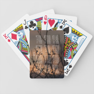 Sunset in the Background; 2013 Calendar Bicycle Playing Cards