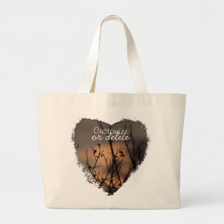 Sunset in the Background; Customizable Canvas Bags