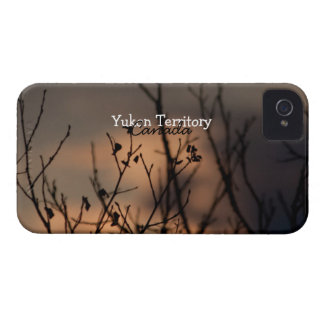 Sunset in the Background; Yukon Territory Souvenir iPhone 4 Case