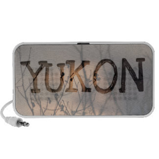 Sunset in the Background; Yukon Territory Souvenir Laptop Speakers