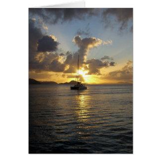 Sunset in the British Virgin Islands Card