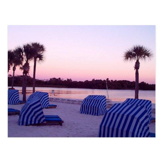 Sunset in the Cabana Postcard