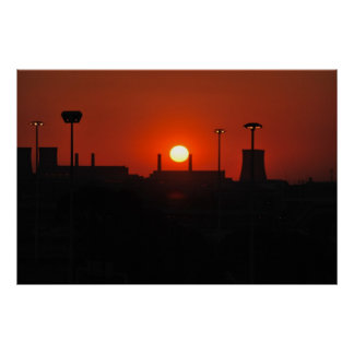 Sunset in the city print