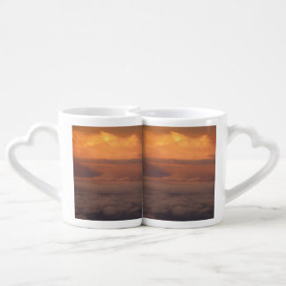 Sunset In The Clouds Couples Coffee Mug